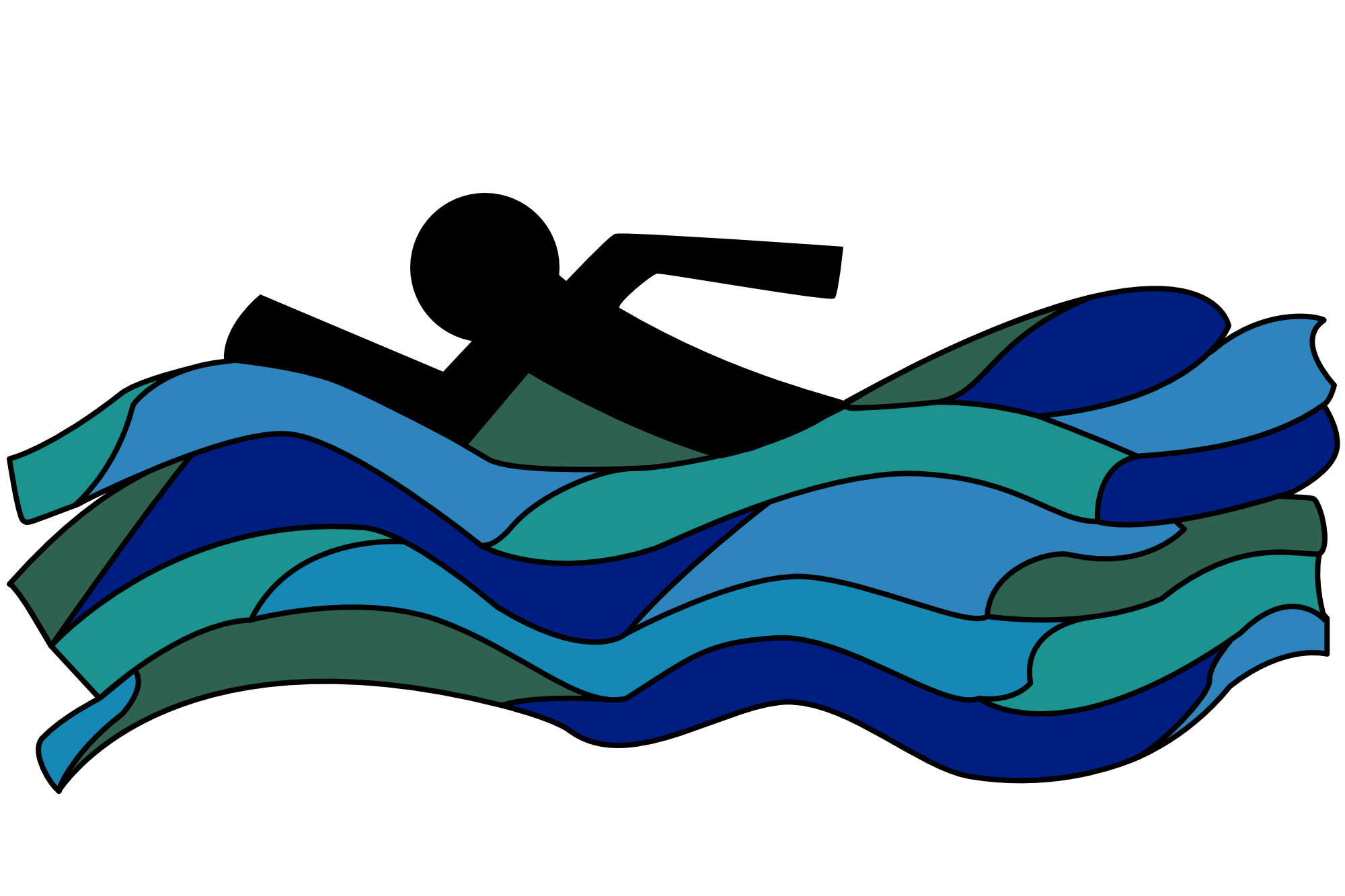 Graphic of person  swimming