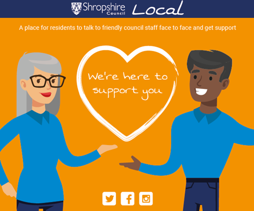 Shropshire Local we're here to support you poster